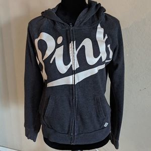 Victoria's Secret PINK Gray Graphic Hoodie